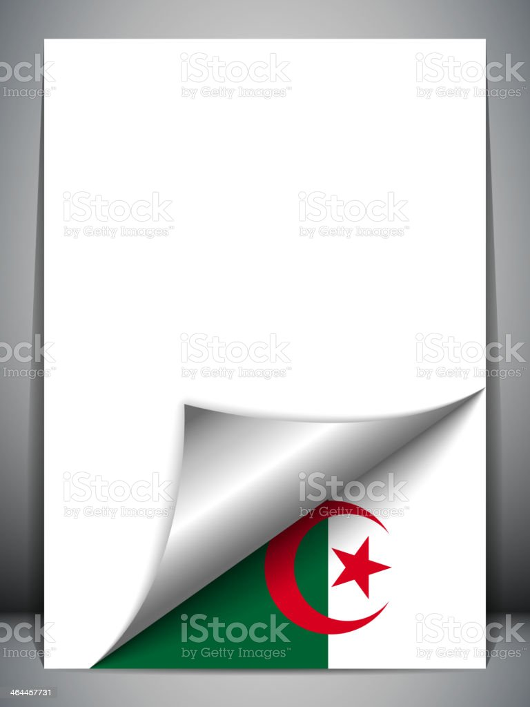Algeria Country Flag Turning Page royalty-free stock vector art