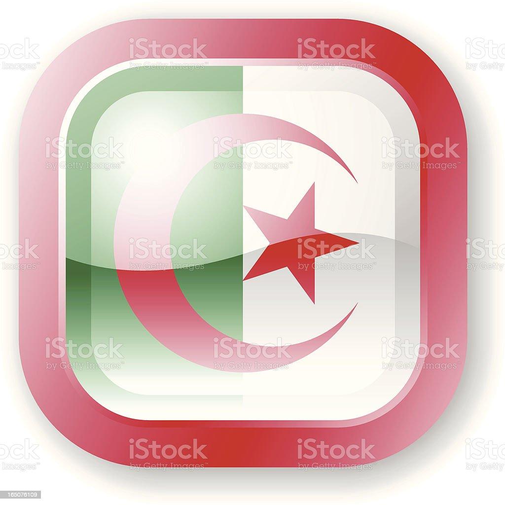 Algeria Flag Icon royalty-free stock vector art