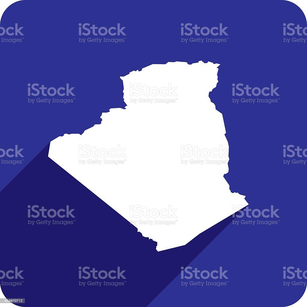 Algeria Icon Silhouette vector art illustration