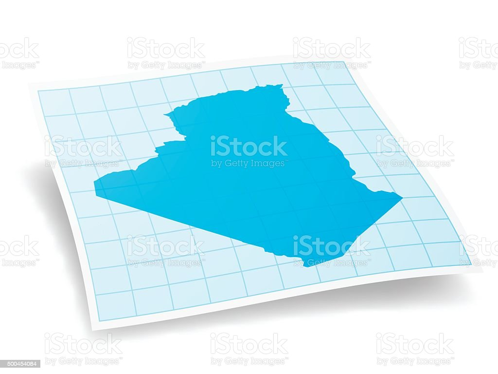 Algeria map isolated on white background vector art illustration