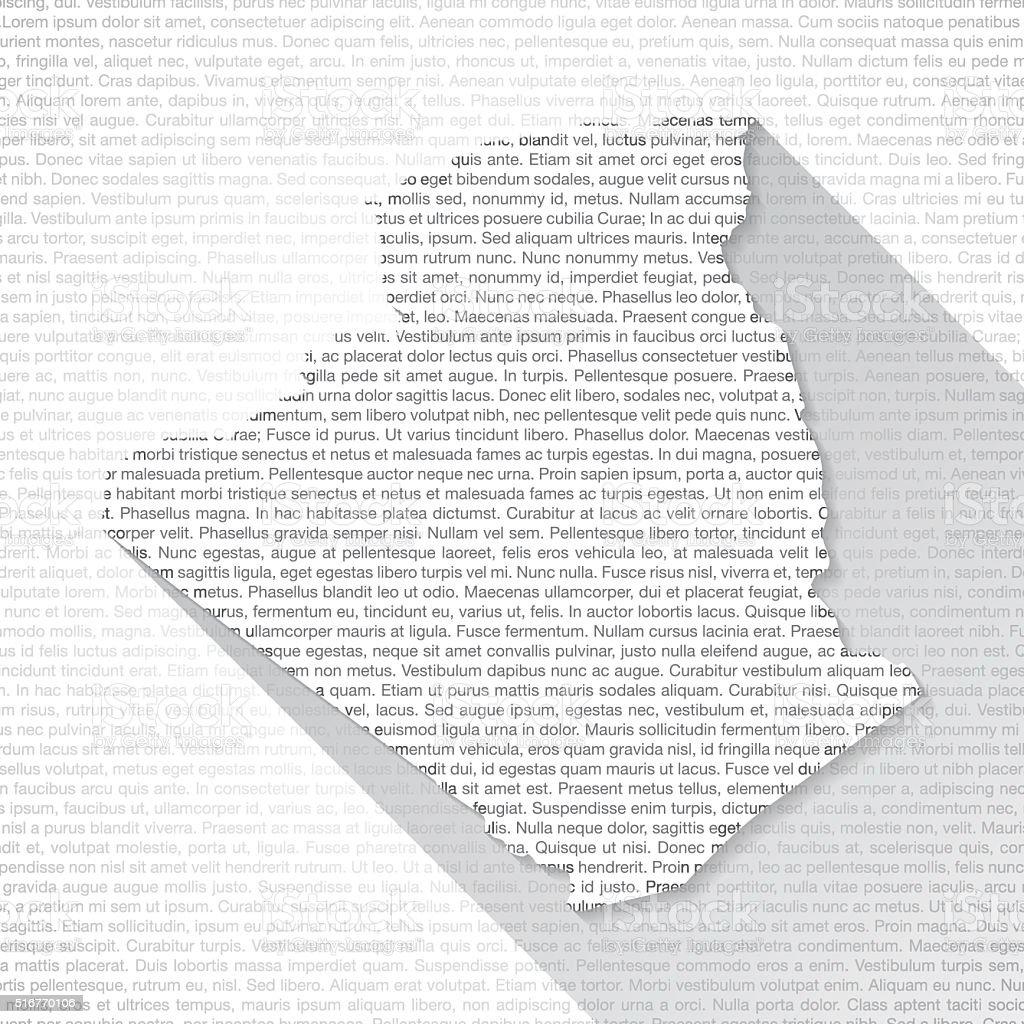 Algeria Map on Text Background - Long Shadow vector art illustration