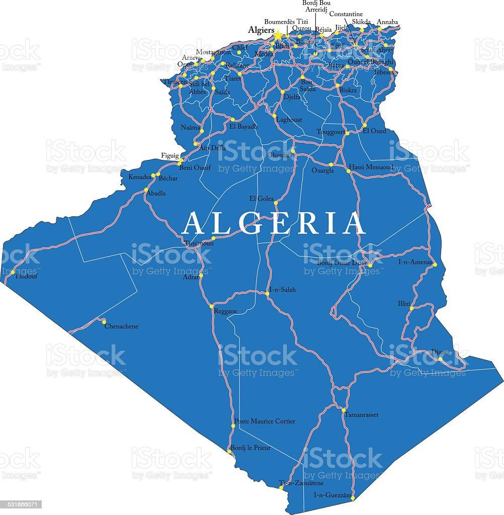 Algeria map vector art illustration