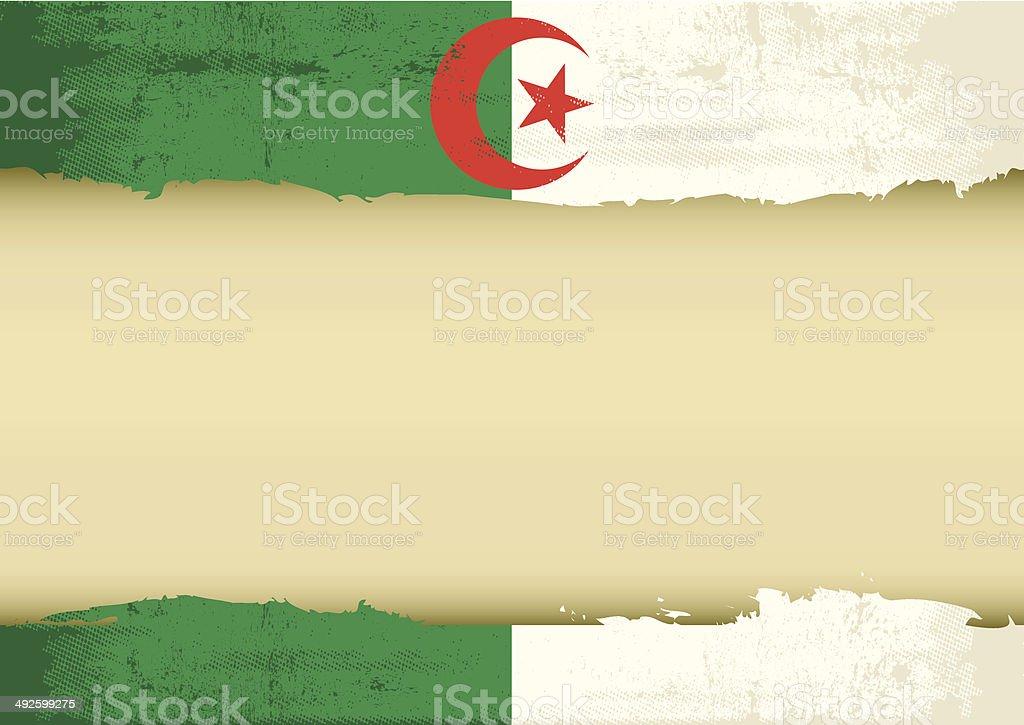 Algerian scrathed flag vector art illustration