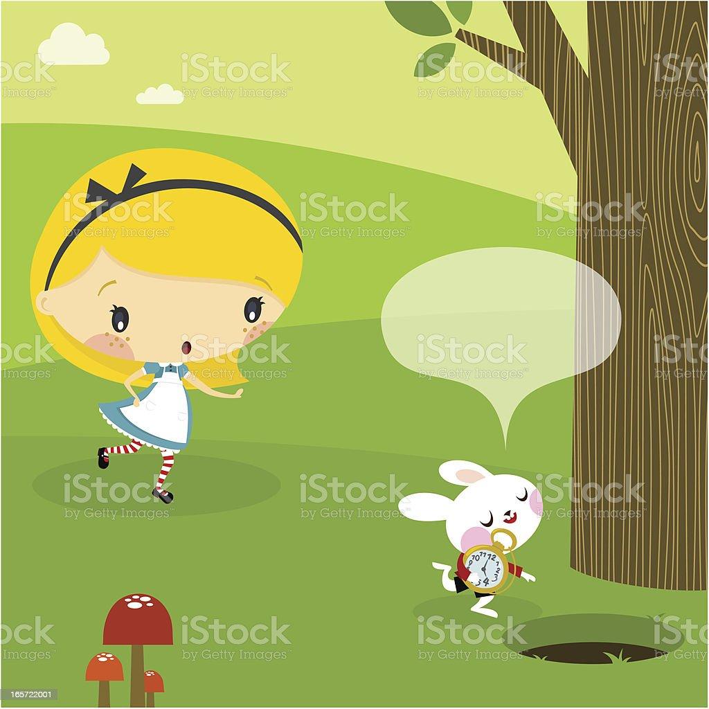 Alice in Wonderland. Part 1 vector art illustration
