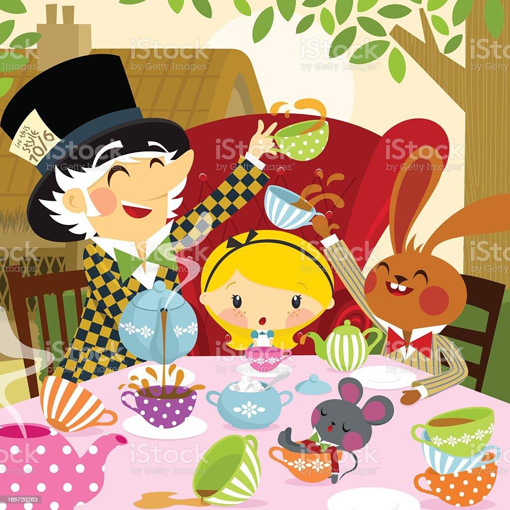 Alice in Wonderland. part 4 vector art illustration