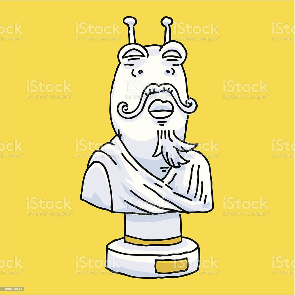 Alien Emperor royalty-free stock vector art