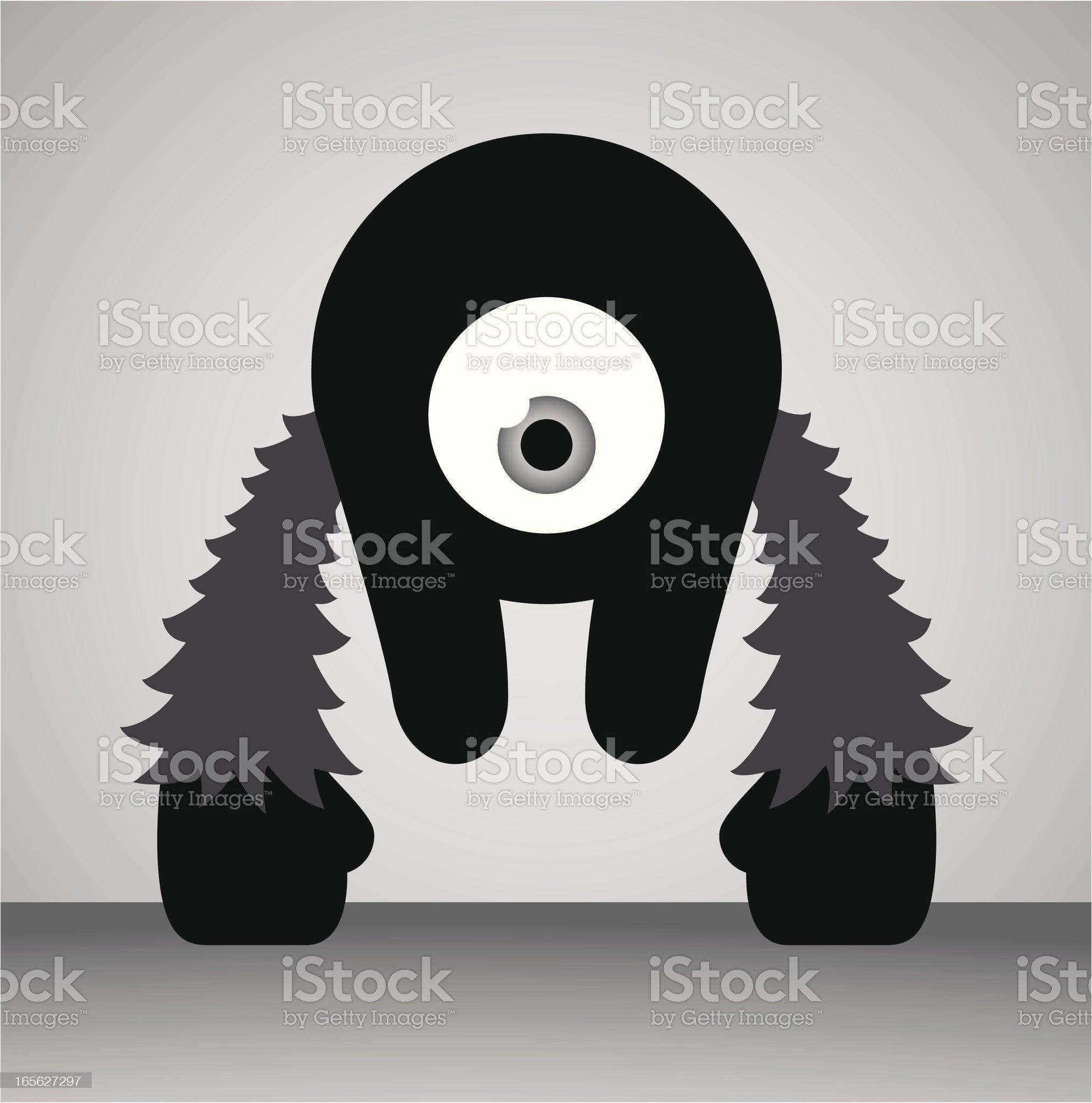 Alien Monster Character royalty-free stock vector art