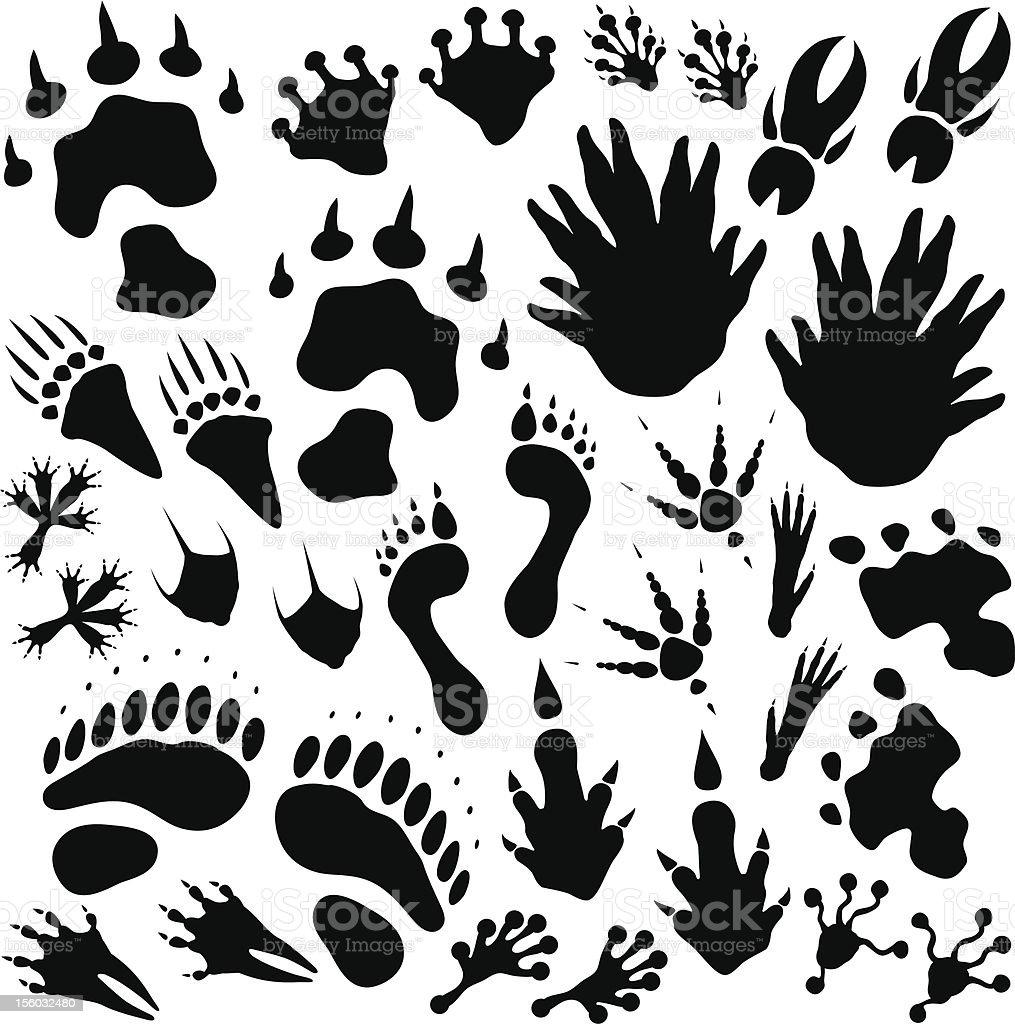 Alien monster footprints royalty-free stock vector art