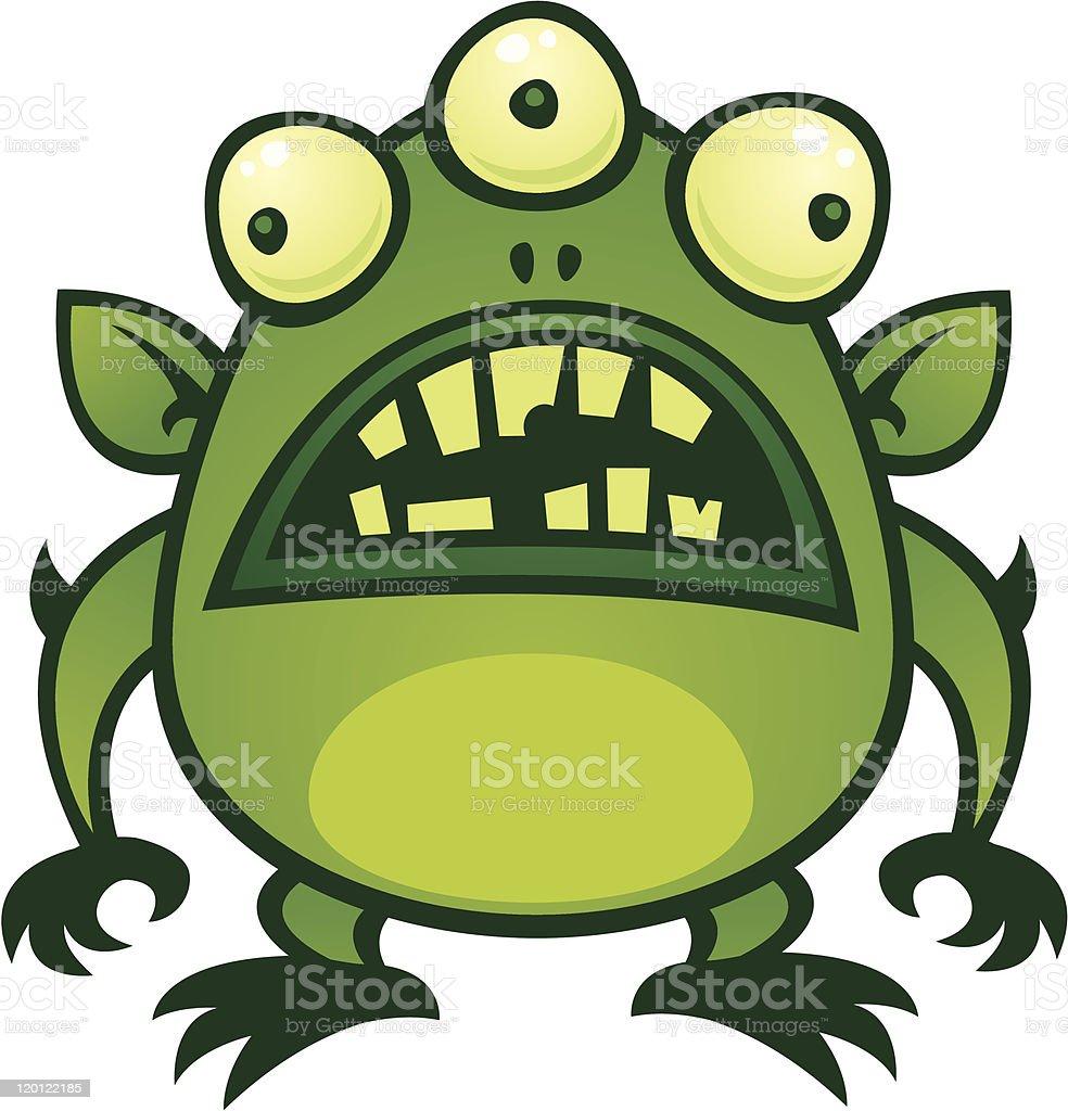 Alien Monster vector art illustration