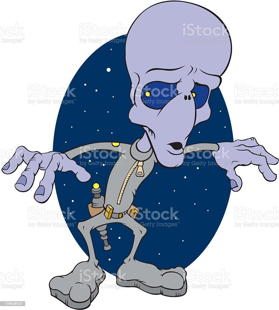 Alien royalty-free stock vector art