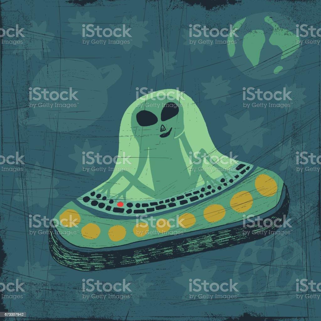 Alien vector art illustration