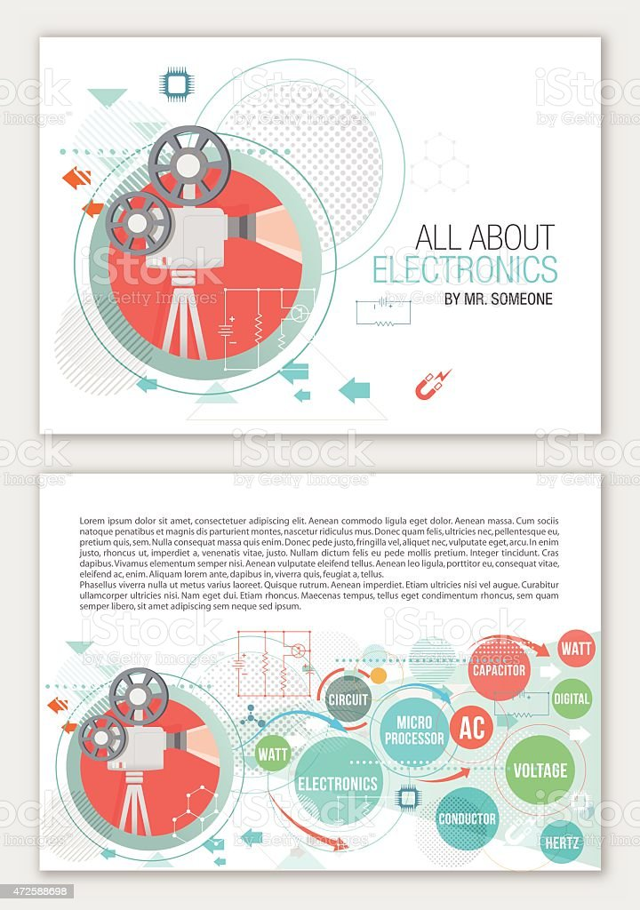 All about chemistry. vector art illustration