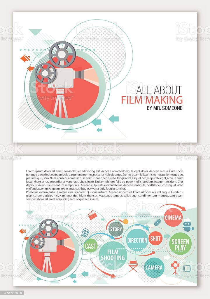 All about film making vector art illustration