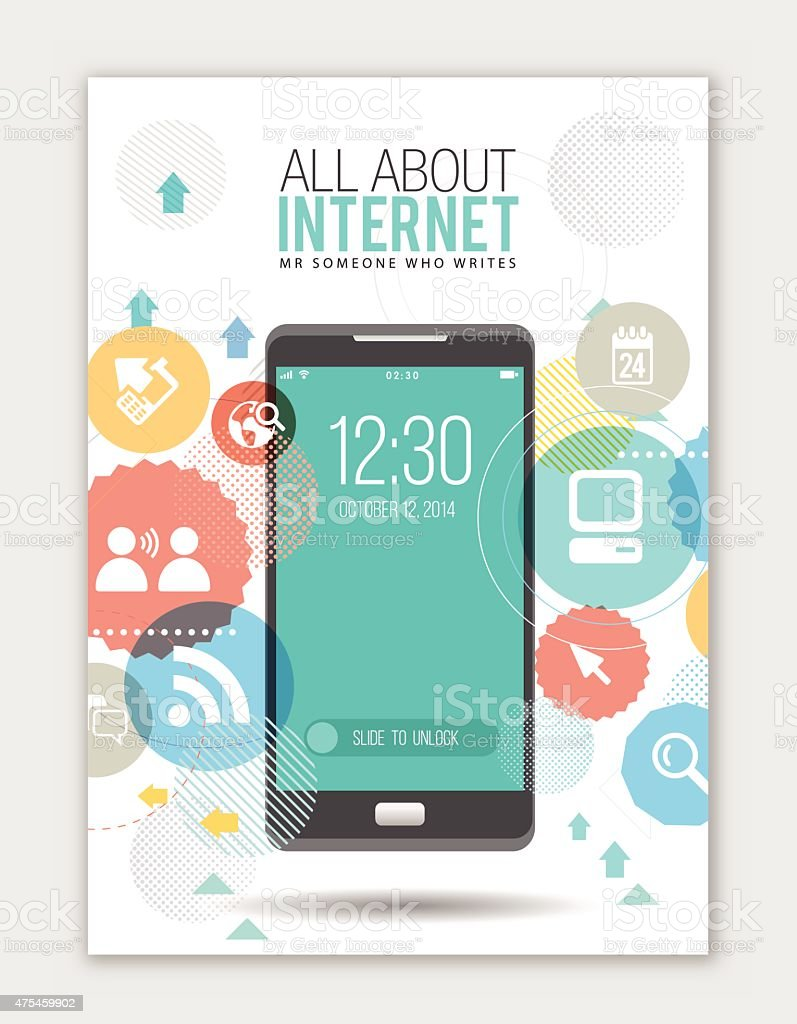 All about internet vector art illustration