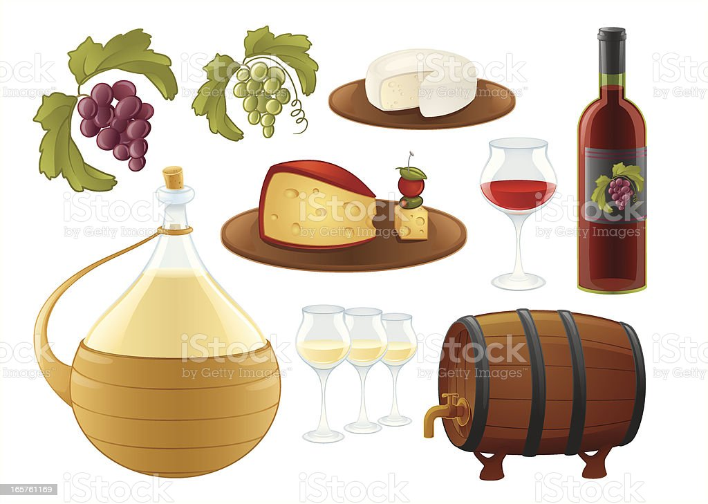 all about wine vector art illustration