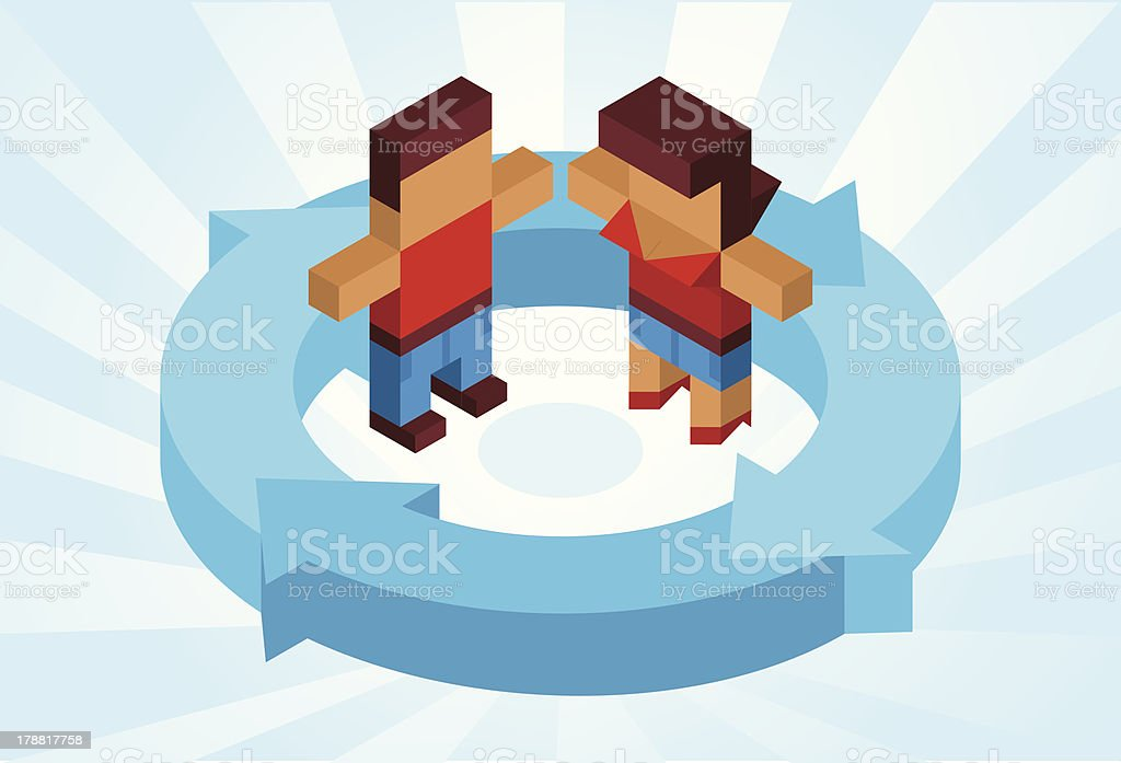 All around the couple royalty-free stock vector art