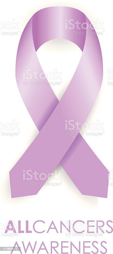 all cancer awareness ribbon vector art illustration