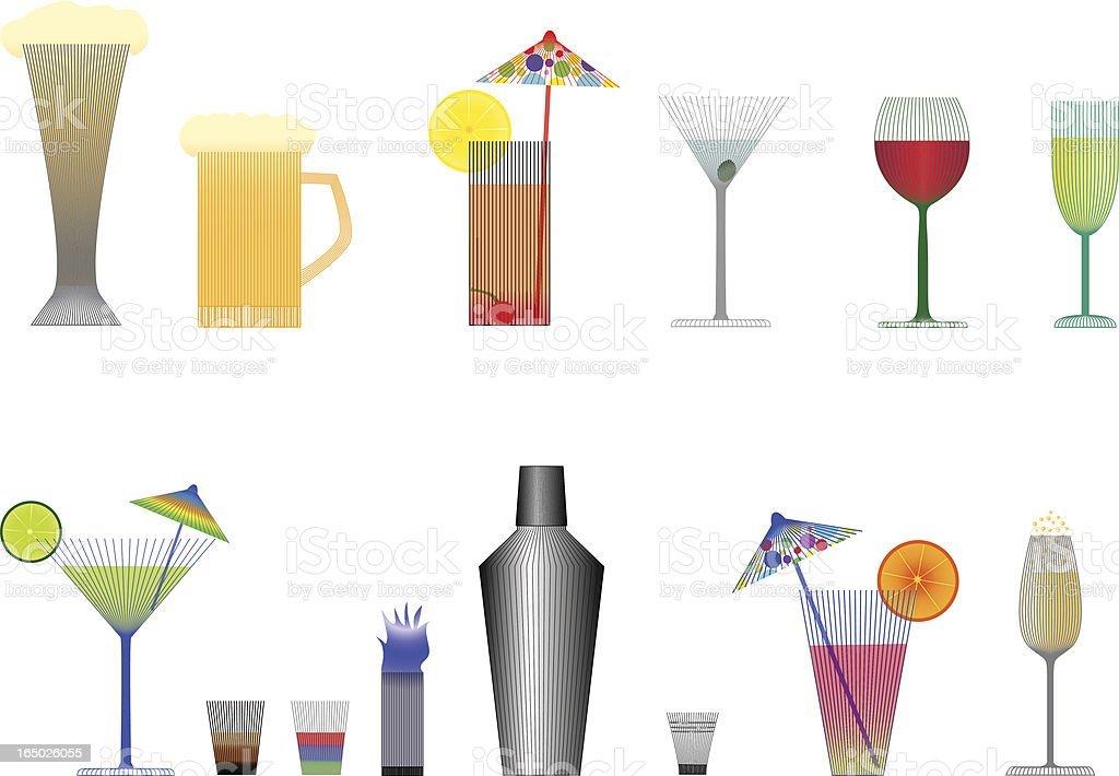 All Drinks for party (eps) vector art illustration