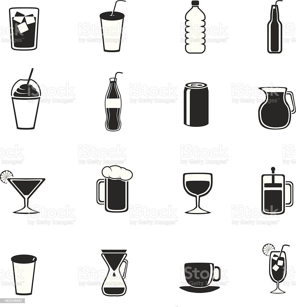 All drinks vector art illustration