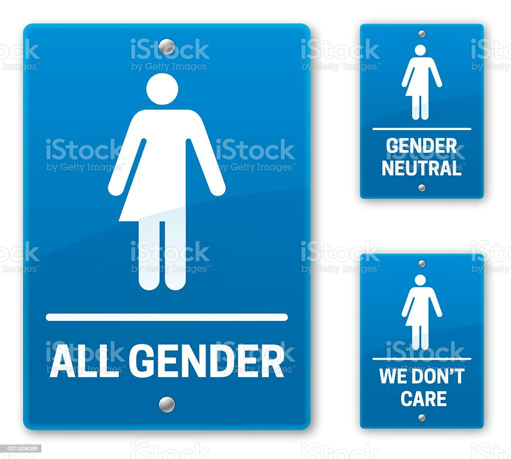 Bathroom Signs Vector Free all gender restroom bathroom signs stock vector art 531309088 | istock