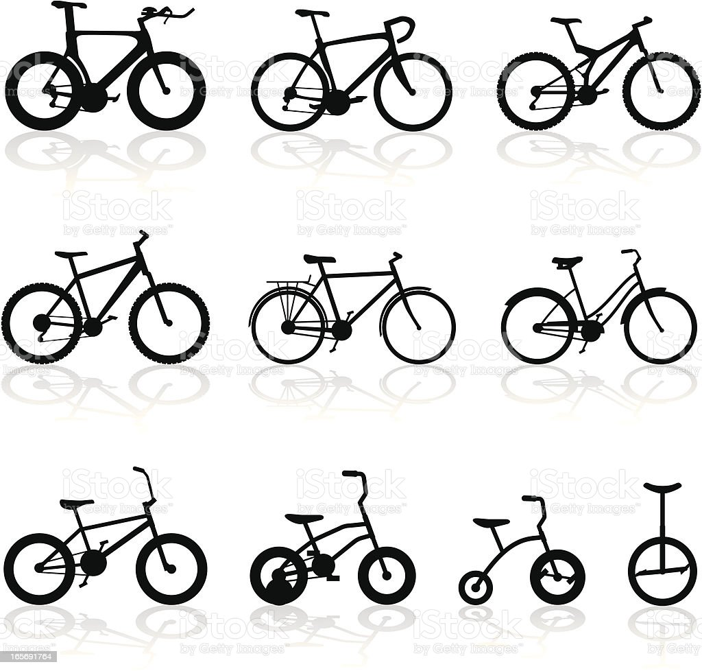 All Kinds of Bikes vector art illustration