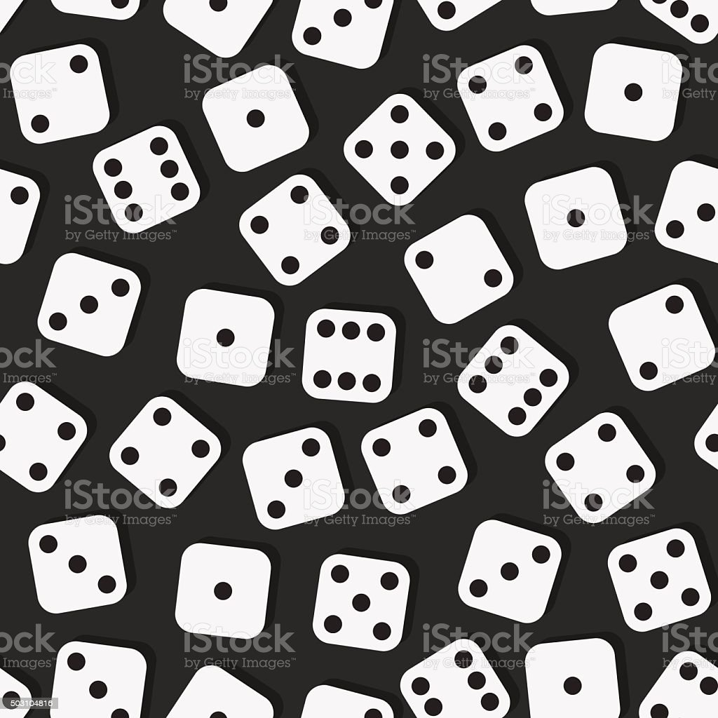 All parties dice, board game vector art illustration