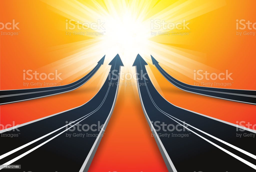 All roads lead to Rome vector art illustration