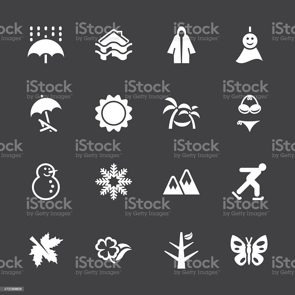 All Season Icons Set 1 - White Series | EPS10 royalty-free stock vector art