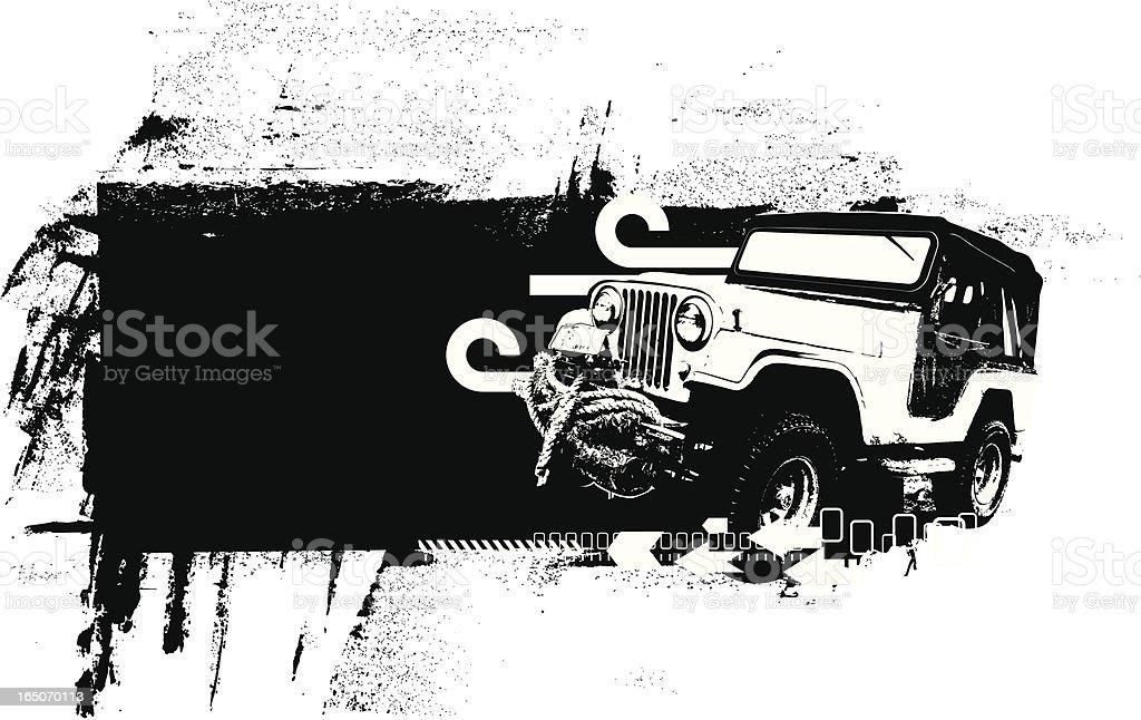 All terrain banner royalty-free stock vector art