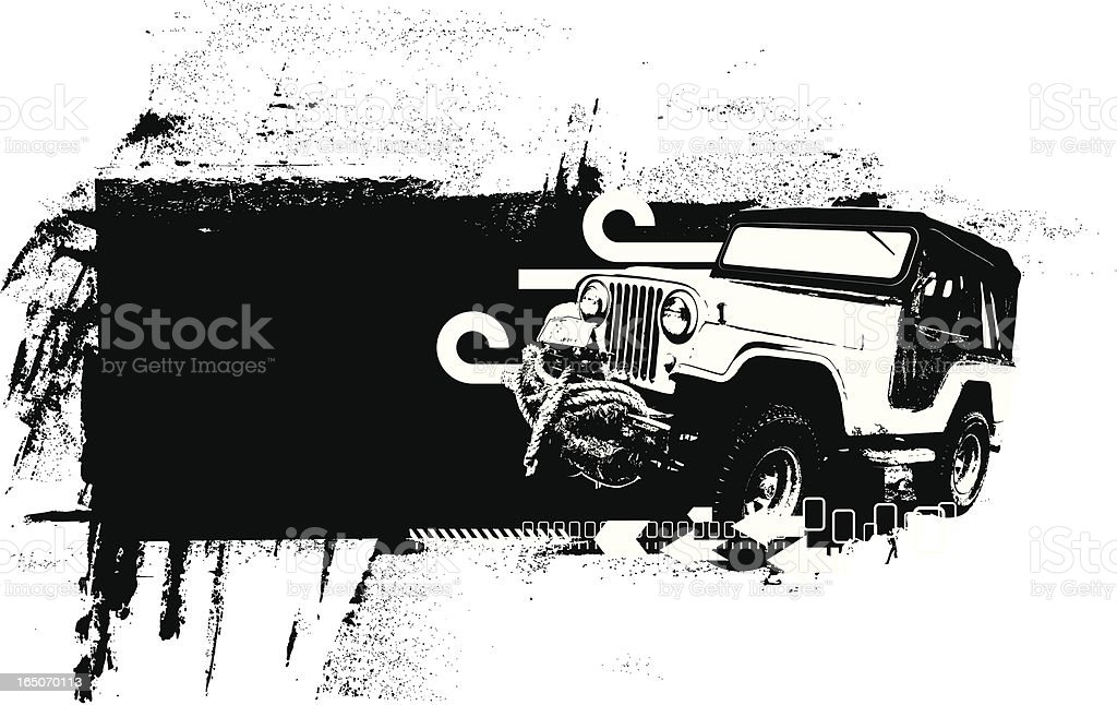 All terrain banner vector art illustration