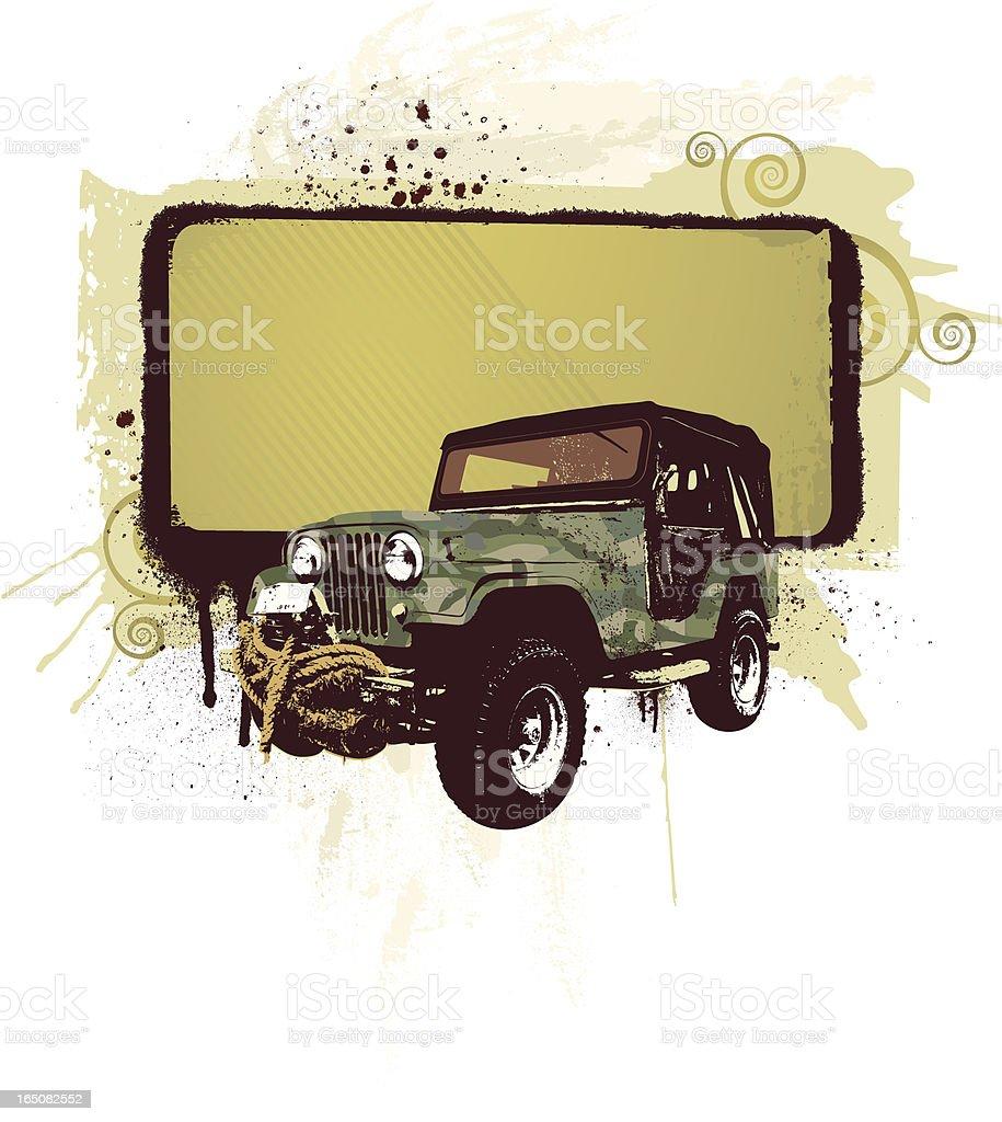 all terrain camo with banner vector art illustration