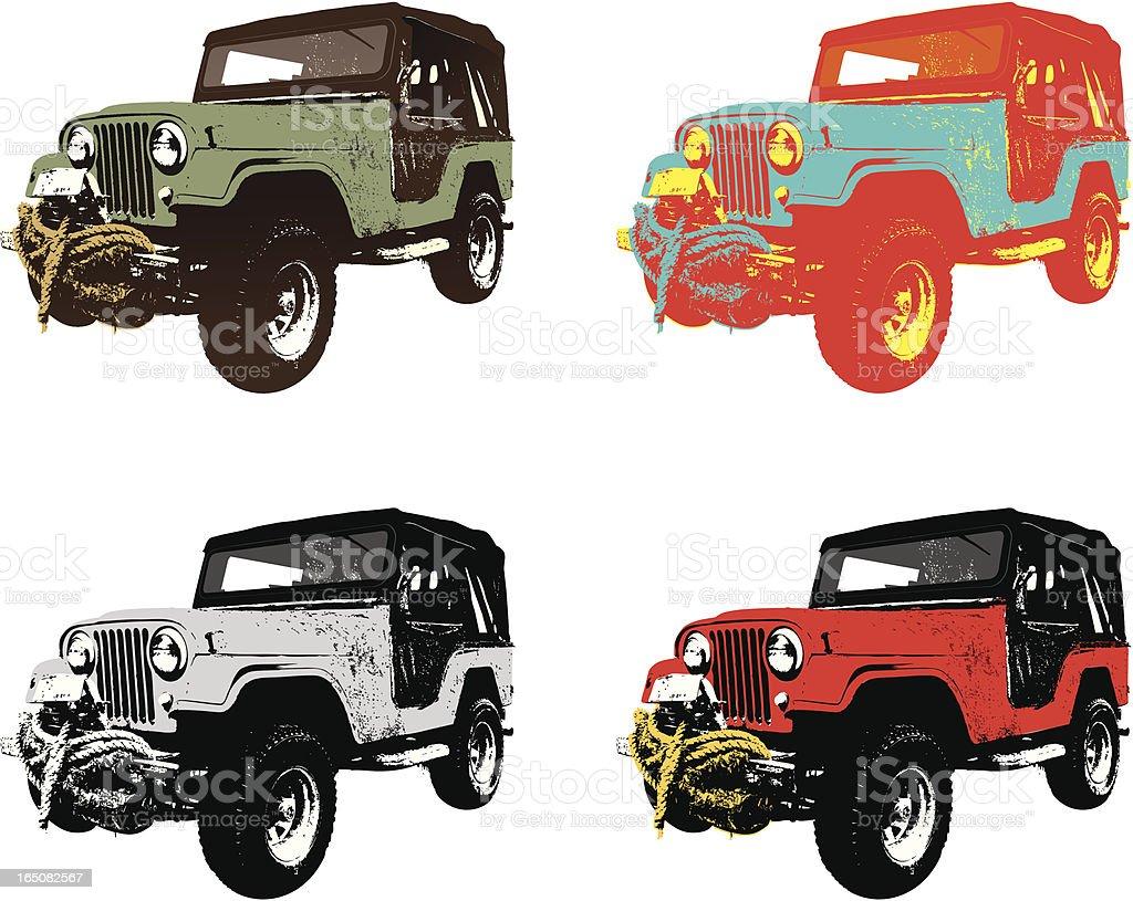 all terrain vehicles vector art illustration