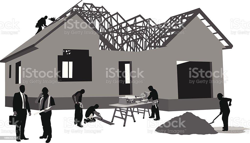 All The Work vector art illustration