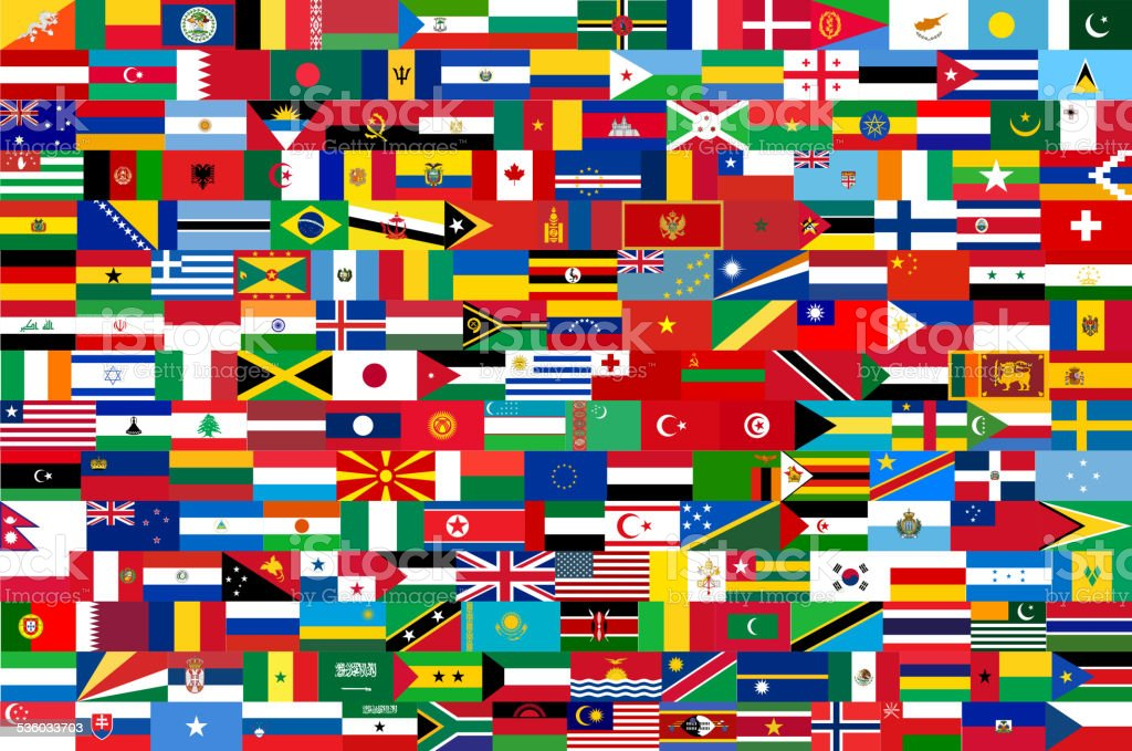all vector flags of all countries in one illustration vector art illustration