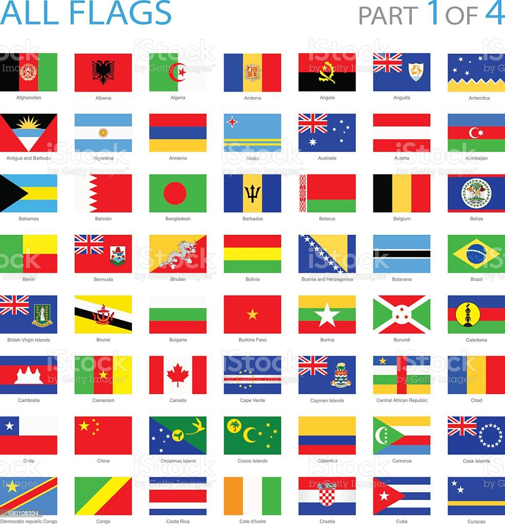 All World Flags - Illustration vector art illustration