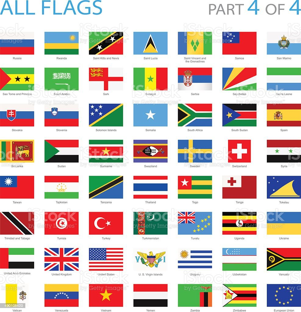 All World Flags - Illustration vector art illustration