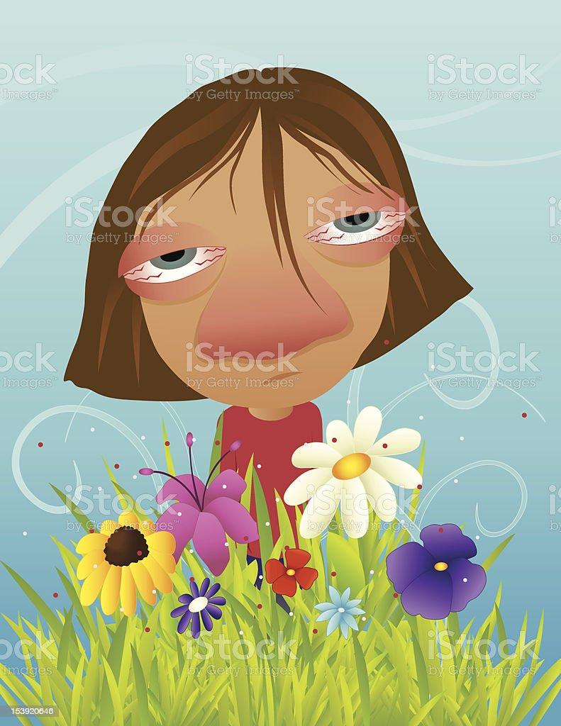 allergie vector art illustration