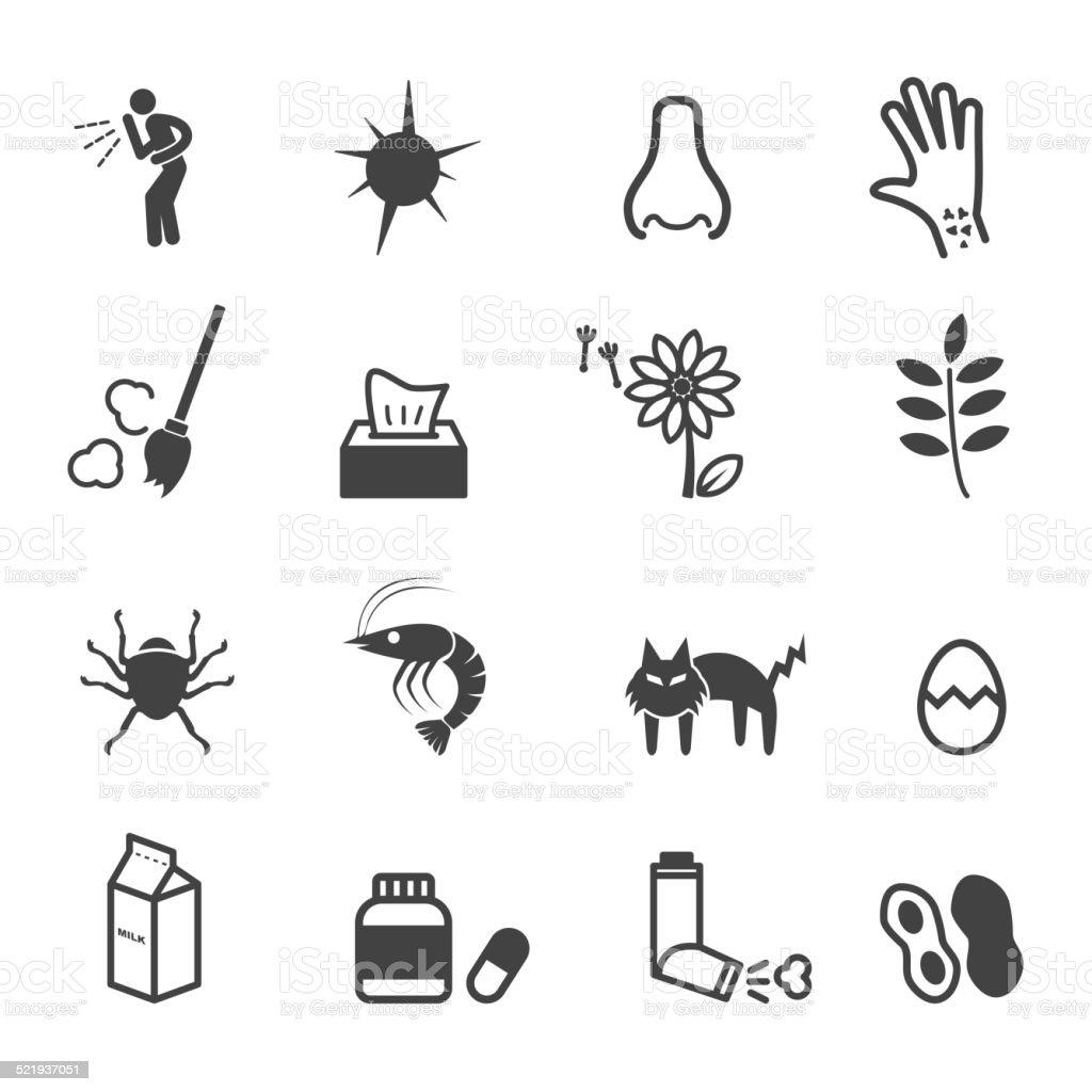 allergies icons vector art illustration