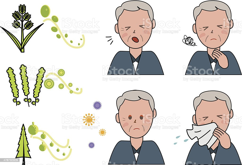 Allergy - Illustration vector art illustration