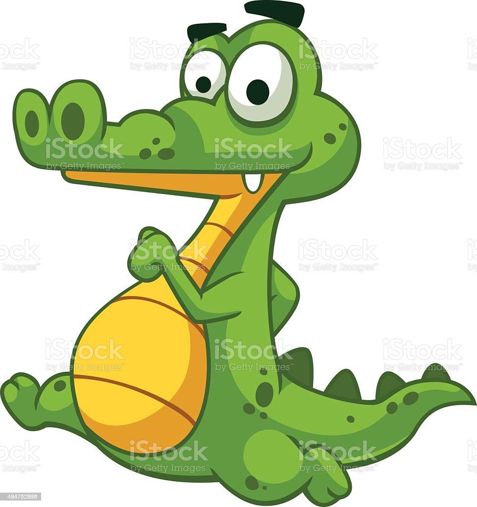 Alligator running royalty-free stock vector art