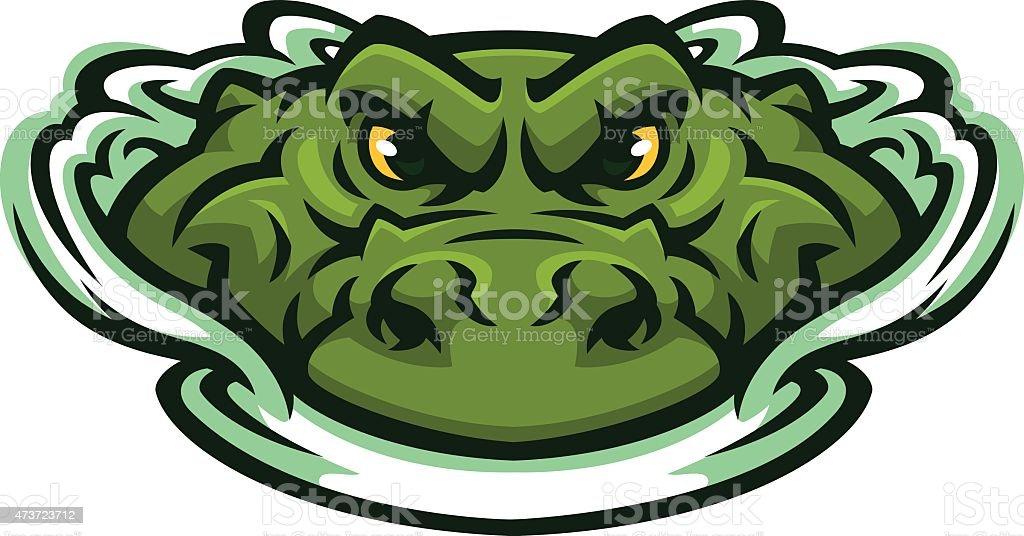 Alligator Swim vector art illustration