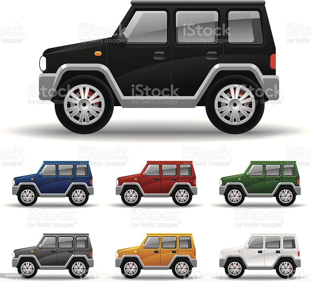 Allroad Car vector art illustration