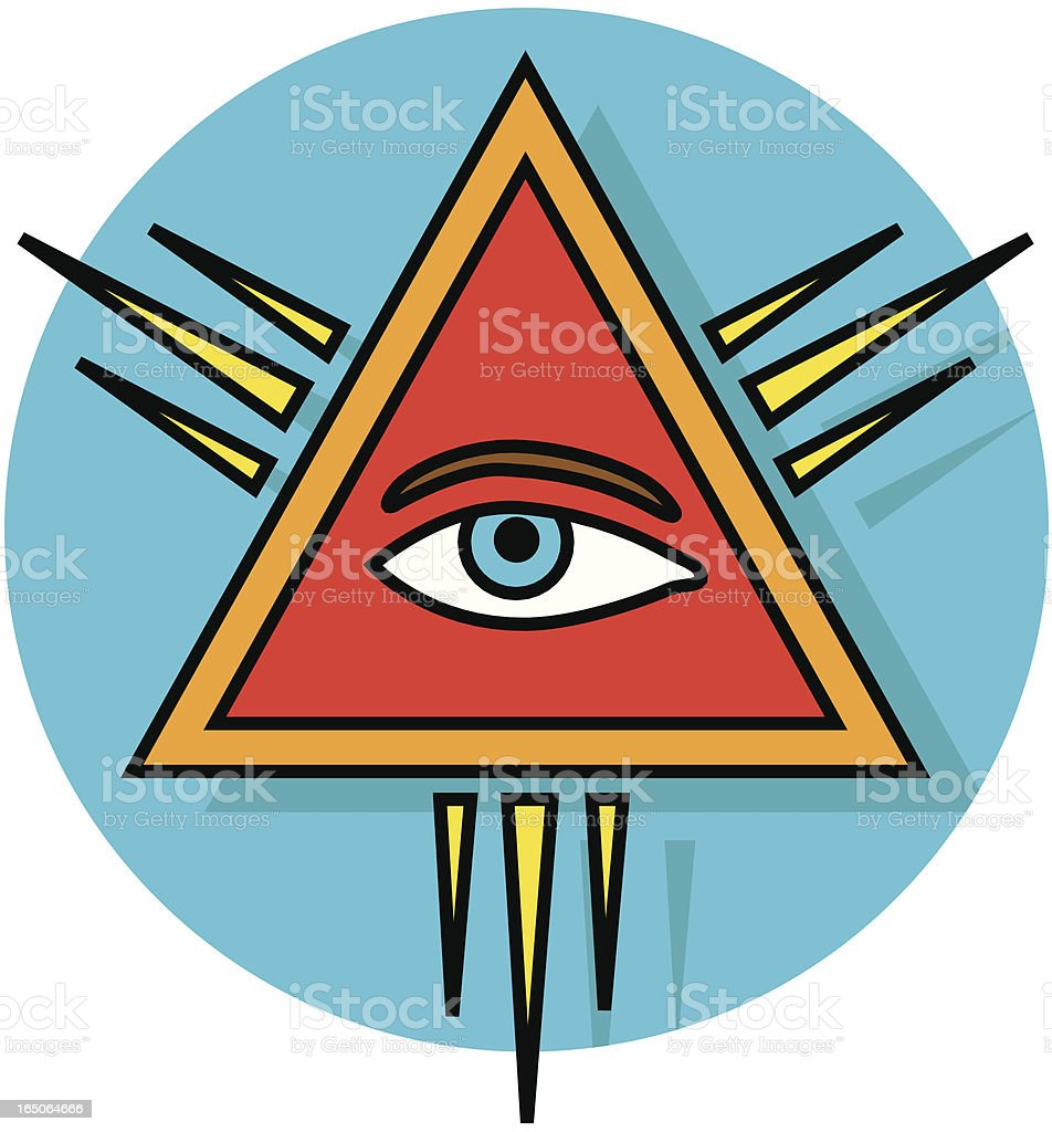 all-seeing eye royalty-free stock vector art