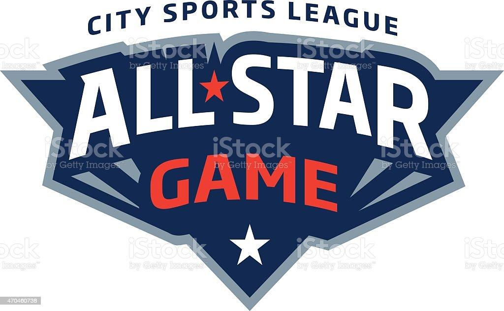 All-Star Game Logo vector art illustration