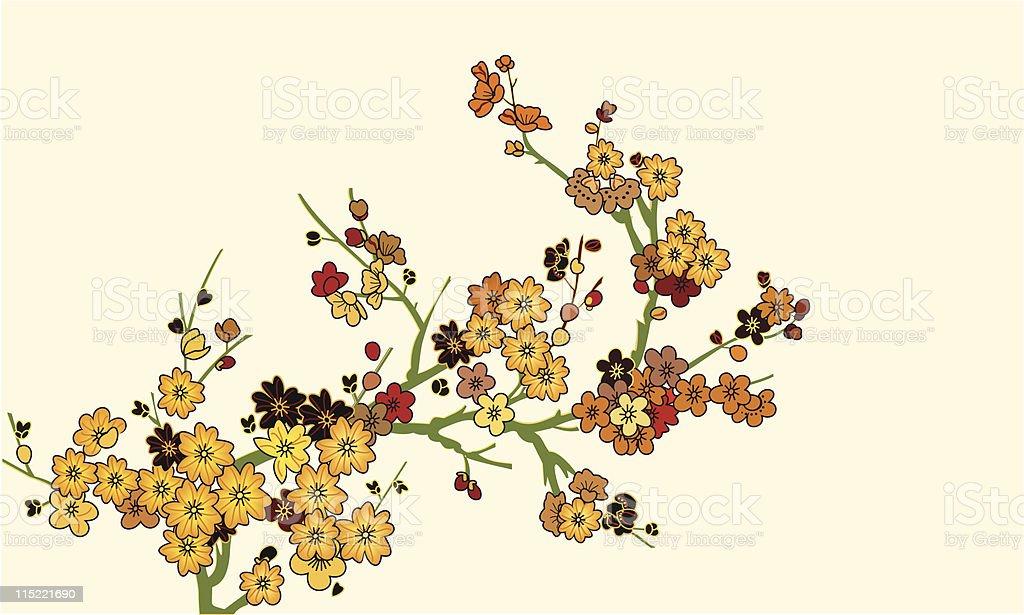 Allure arranged flowers royalty-free stock vector art