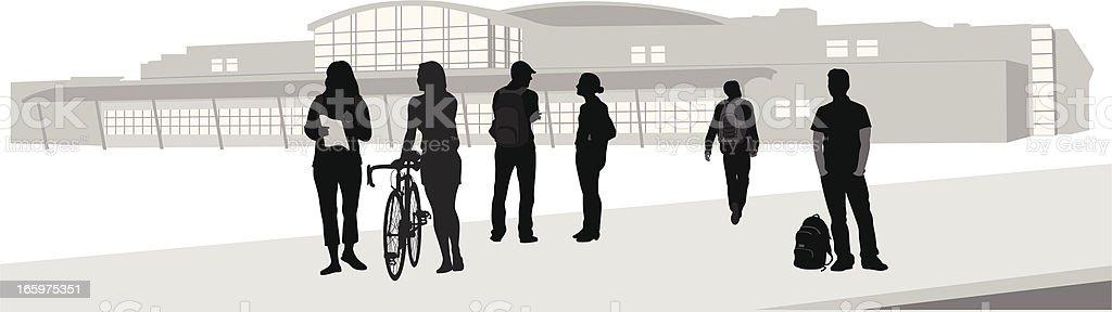 Alma Mater Vector Silhouette vector art illustration
