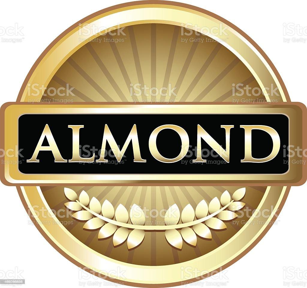 Almond Gold Label vector art illustration