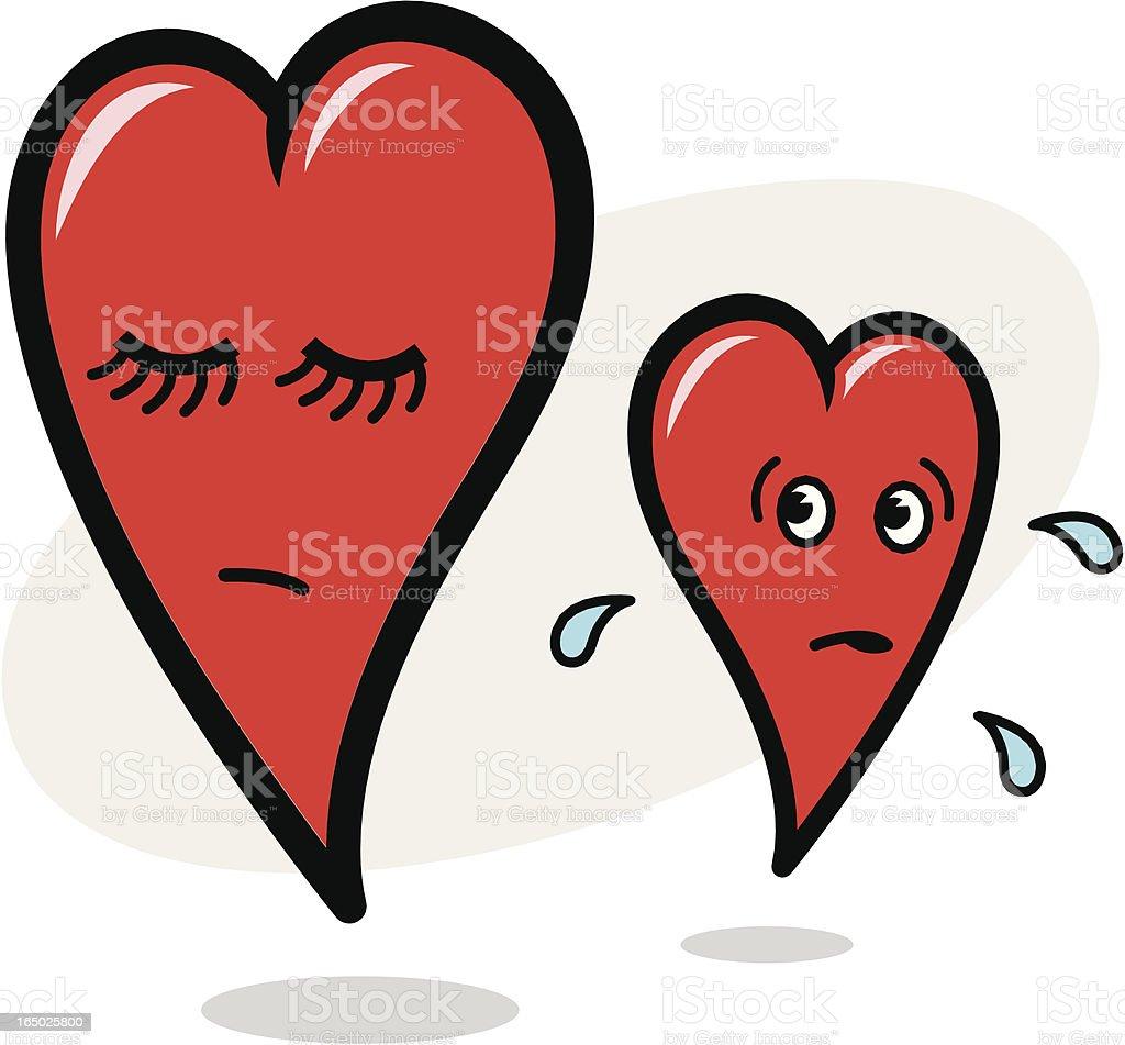 Almost Broken Heart royalty-free stock vector art