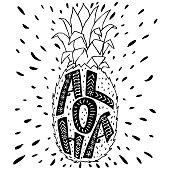 'Aloha' hand lettering