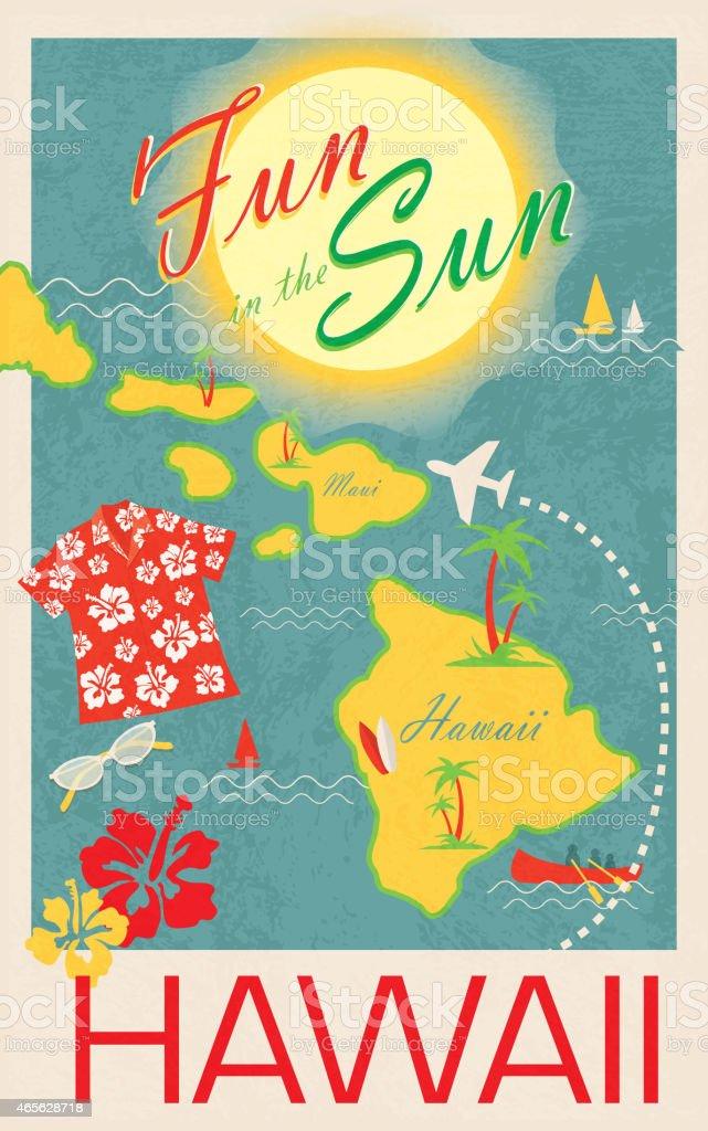 Aloha revival Hawaiian Luau poster design template poster vector art illustration